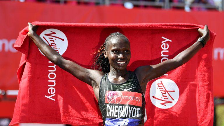Vivian Cheruiyot made it a double for Kenya in the women's race
