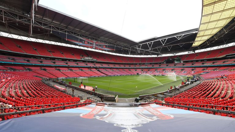 Wembley Stadium hosts the FA Cup final on May 19
