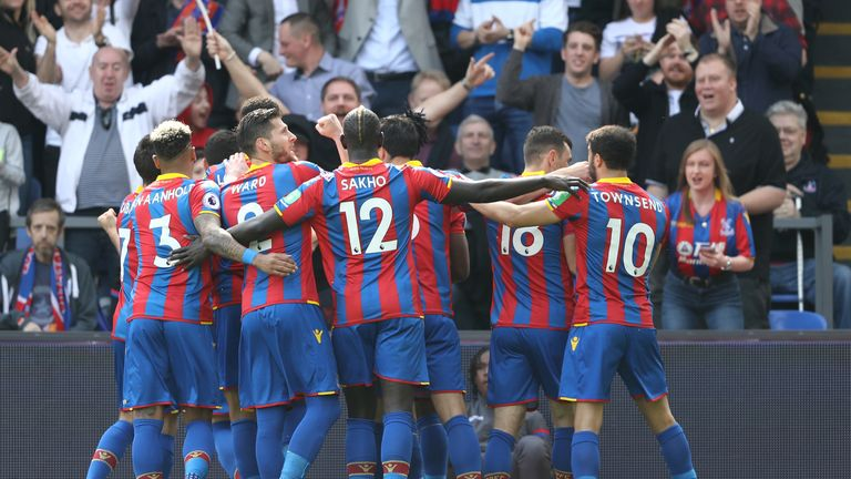 Crystal Palace are six points clear of the relegation zone