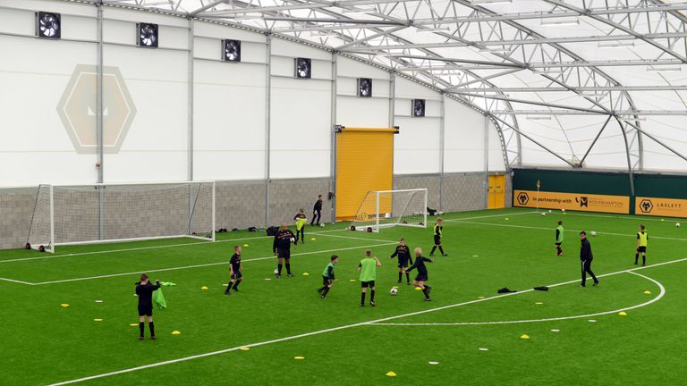 Wolves' academy features an indoor arena for the club's young players