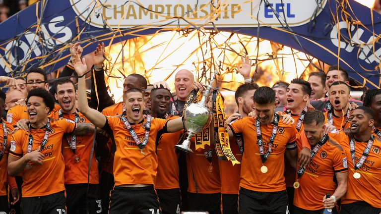 Wolves are back in the top flight after winning the Sky Bet Championship