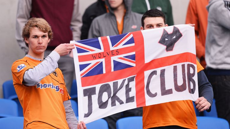Wolves fans react as the club were relegated to League One in 2013