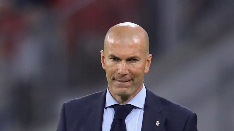 Zinedine Zidane's Real Madrid finished third in La Liga, 17 points off Barcelona.