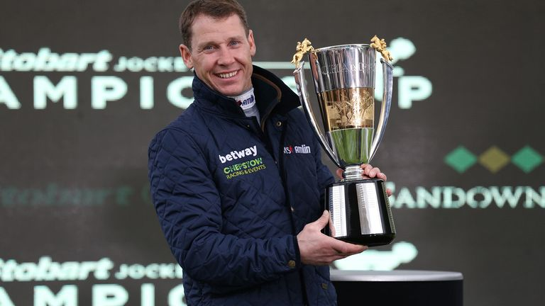 Reigning champion jump jockey Richard Johnson becomes an OBE