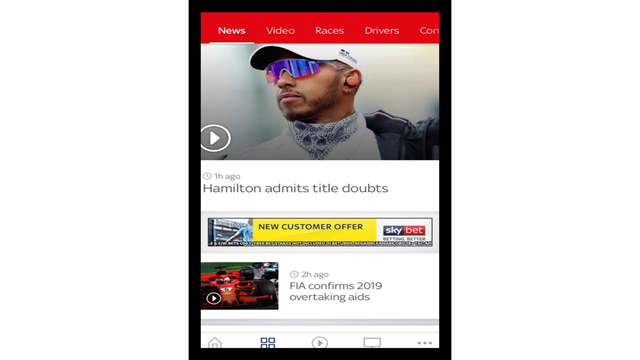 The Sky Sports mobile app: Personalise your F1 experience