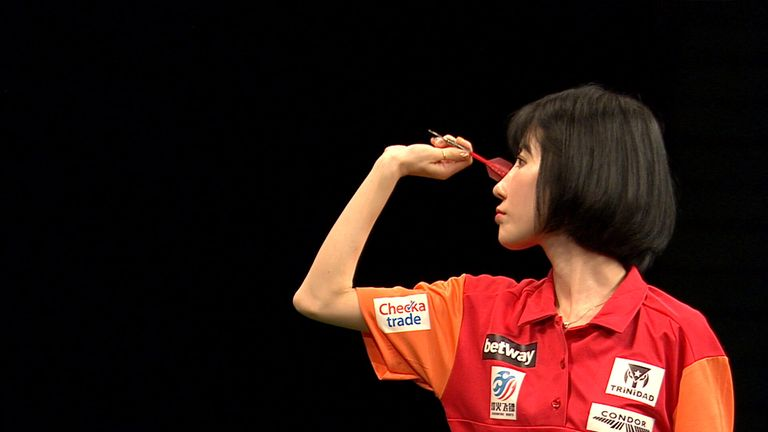 Momo Zhou became only the second woman to feature at the World Cup of Darts