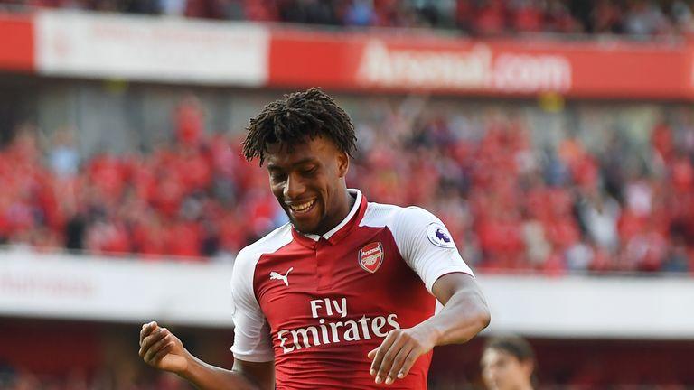 Alex Iwobi has nine goals in 98 Arsenal appearances