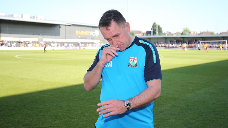 Martin Allen first took charge of Barnet in 2003