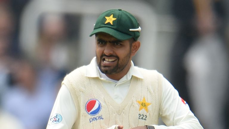 Babar Azam was one of two Pakistan players spotted wearing the watches on Thursday