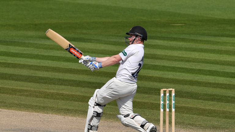 Ben Brown struck a 17th first-class century but Sussex struggled with the ball on day two
