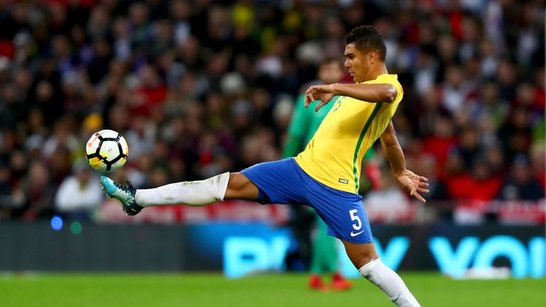 Casemiro made his debut for Brazil as a 19-year-old in 2011