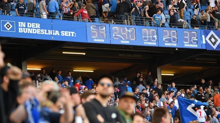 The clock which displays how long Hamburg have been in the top flight will need to be reset