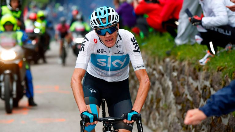 Chris Froome won a thrilling finish to win atop Monte Zoncolan