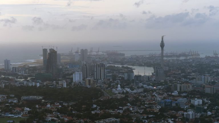 Two British men have died in hospital in the Sri Lankan capital Colombo