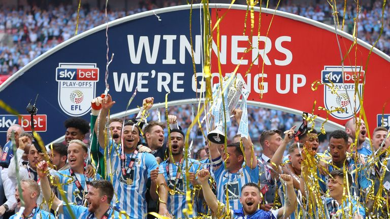 Coventry celebrate winning promotion