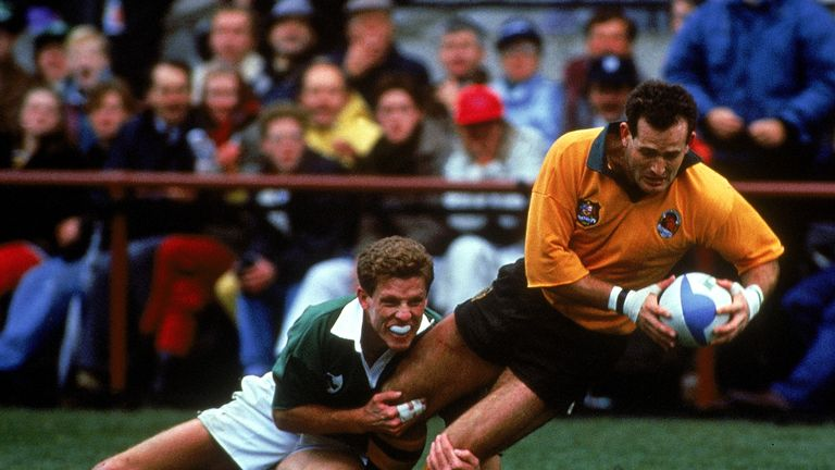 David Campese was magnificent for Australia as they avoided an embarrassing upset by the skin of their teeth