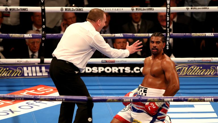 Haye was down twice in the third and once in the final round against Bellew