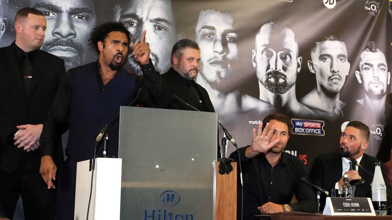 David Haye was full of venom in the opening press conference for the first fight
