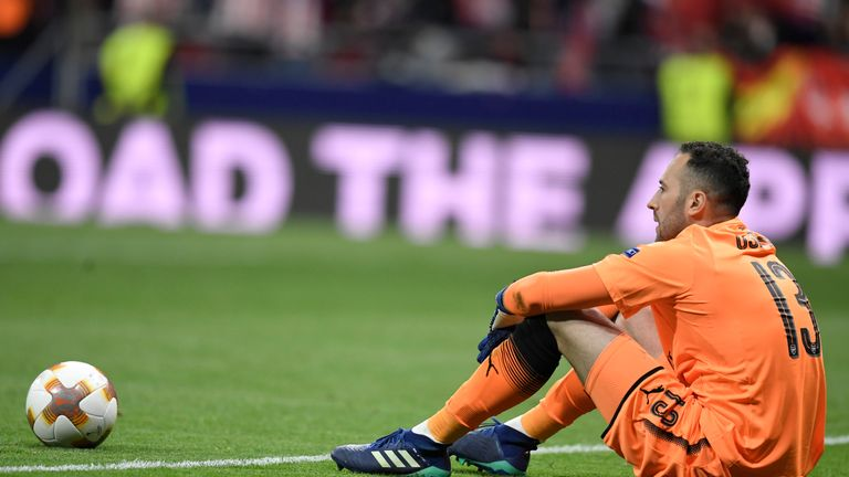 Arsenal were denied a place in the Europa League final by Atletico Madrid