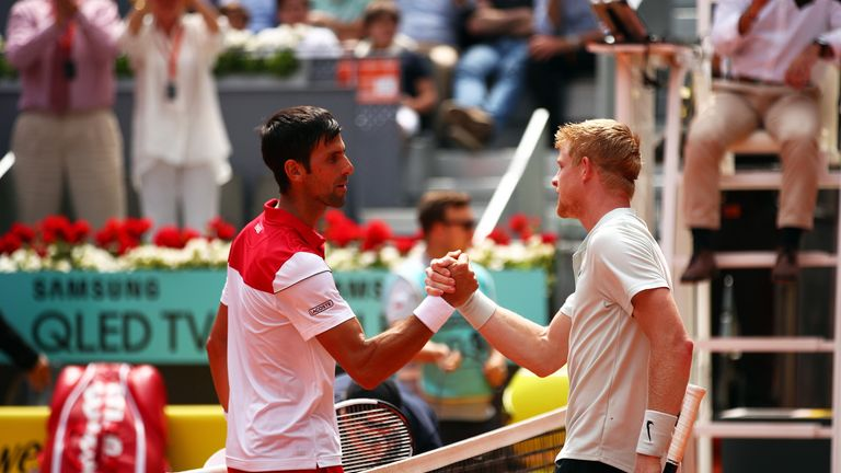 Edmund defeated Novak Djokovic at the Madrid Masters