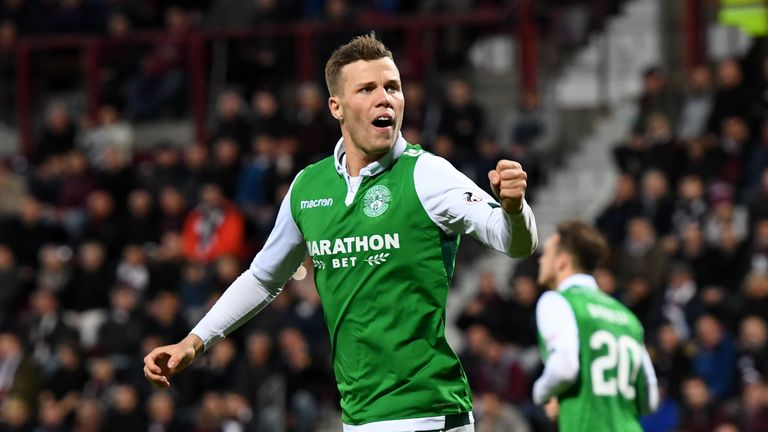 Florian Kamberi has made 14 appearances on loan for Hibs