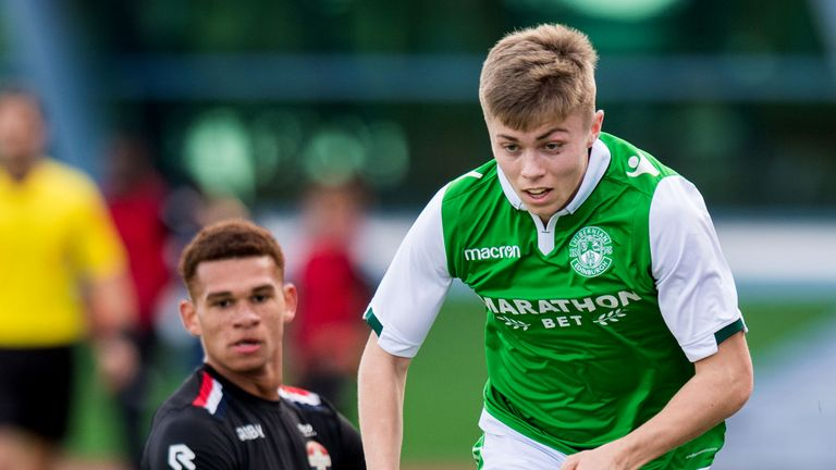 Fraser Murray is one of the Hibs youngsters who will be mentored by tennis superstar Andy Murray