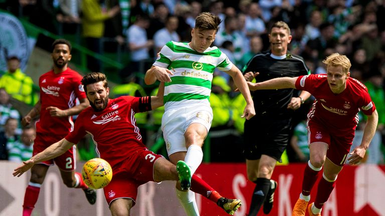 Kieran Tierney in action