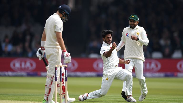 Pakistan's Hasan Ali took four wickets on the opening day of the first Test at Lord's