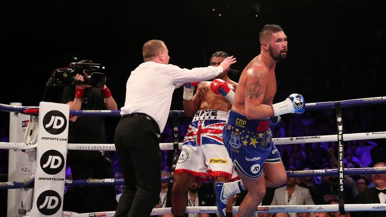 Haye was halted in the fifth round at The O2