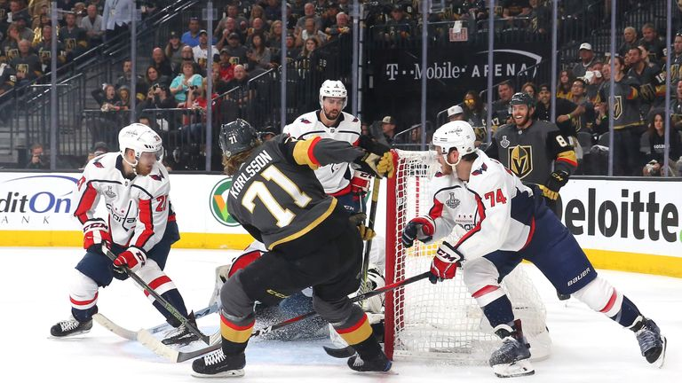 William Karlsson drew Vegas level at 2-2 with less than two minutes remaining in the first period