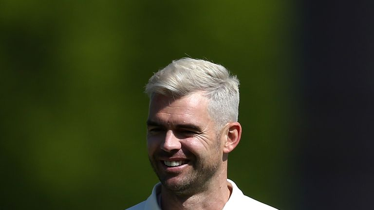 James Anderson took 4-26 as Lancashire beat Notts by an innings
