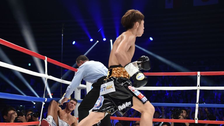 Inoue became the new WBA 'World' bantamweight champion