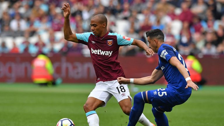 Joao Mario on the ball as the Hammers ended their season in style