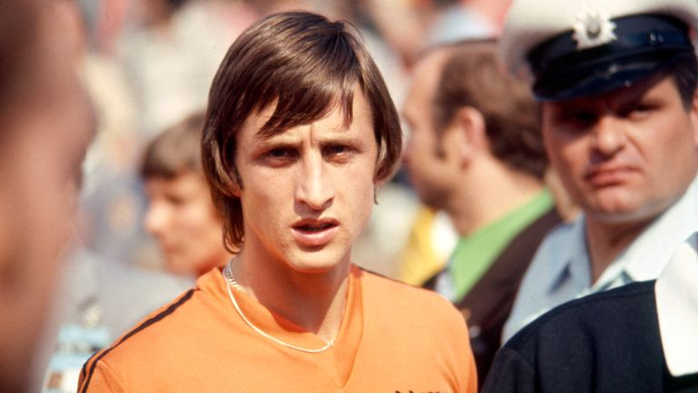 Johan Cruyff at the World Cup in West Germany