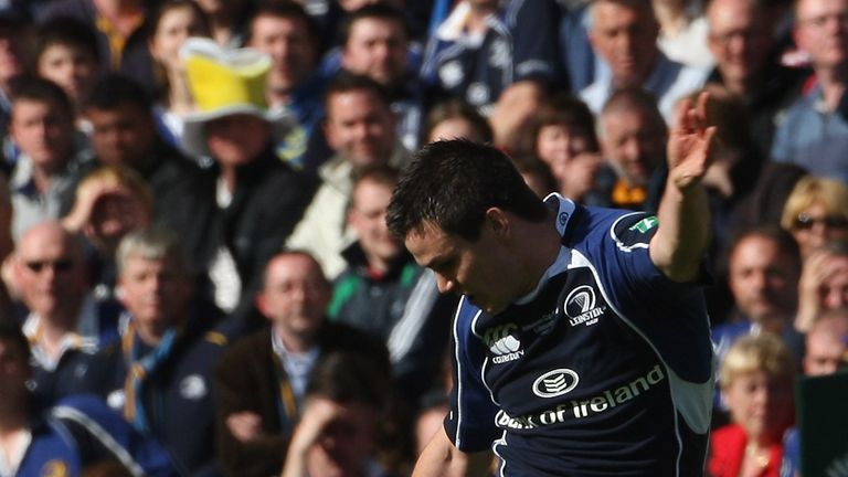 Johnny Sexton hit another memorable drop-goal from close to half-way against Leicester Tigers in the 2009 final