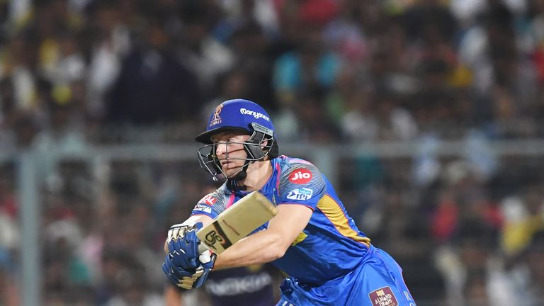 Jos Buttler was 'Mankaded' while playing for the Rajasthan Royals in the IPL (Credit: AFP)