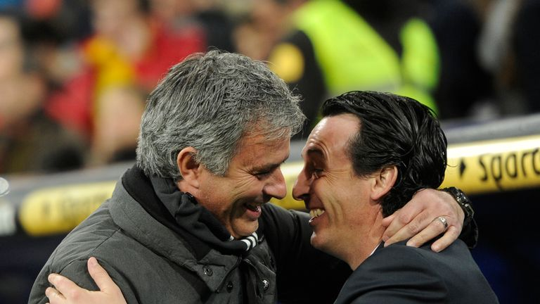 New Arsenal manager Unai Emery has failed to beat Jose Mourinho (pictured) and Pep Guardiola as a manager