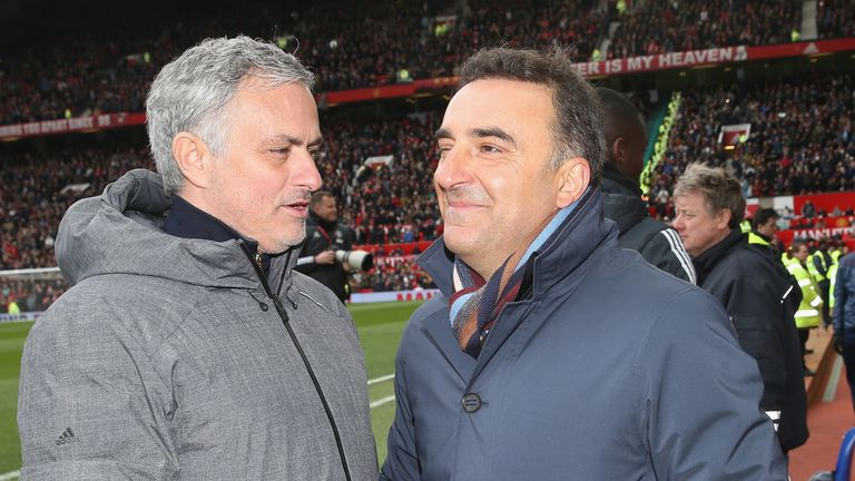Carvalhal has backed friend Jose Mourinho to turn things around at United