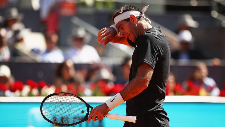 Juan Martin Del Potro hopes a groin injury will not keep him out of the French Open