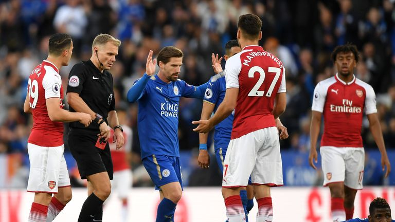 Arsenal's miserable away record continued at Leicester