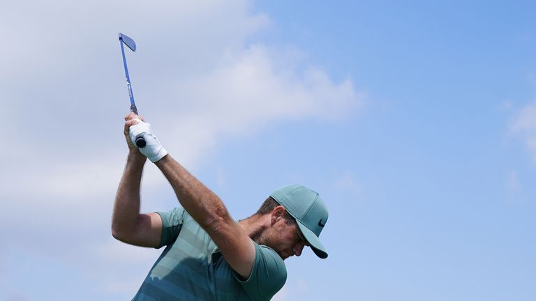 Lucas Bjerregaard is one of two players sitting on nine under