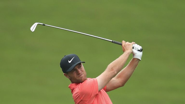 Lucas Bjerregaard leads after an opening-round 65