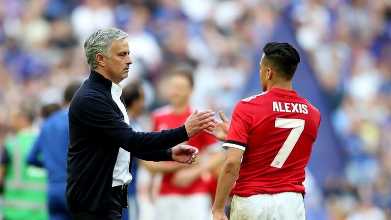 Jose Mourinho wants Alexis Sanchez to start getting game time ahead of the new season
