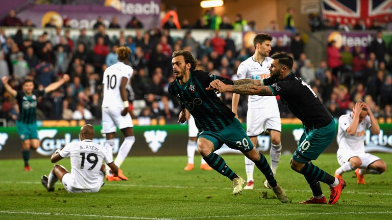 Southampton beat Swansea on Tuesday to give their survival hopes a major boost