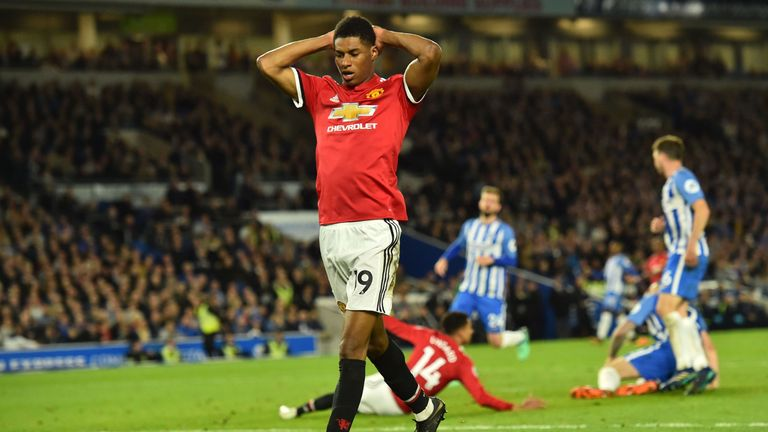 Marcus Rashford had a night to forget at Brighton