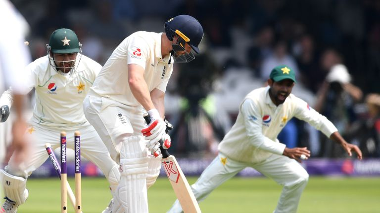 Mark Stoneman's struggle for runs at Test level continued at Lord's