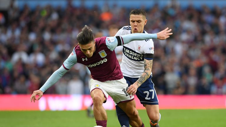 Grealish was fouled on average more times per game than any other Championship player