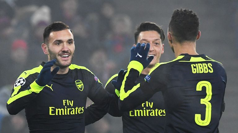 Perez's highlight with the Gunners was a hat-trick against Basel
