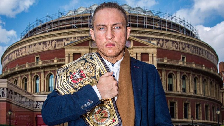 Pete Dunne has been WWE United Kingdom champion for more than a year but will defend his title at the Royal Albert Hall on Tuesday night
