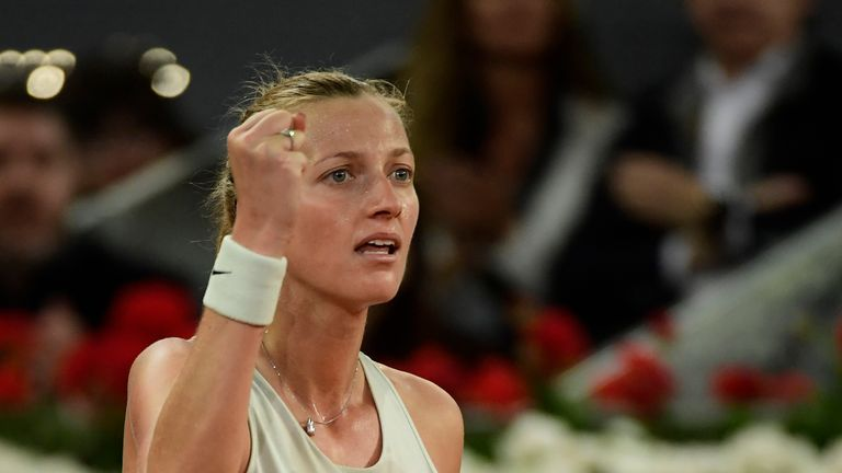 Kvitova prevailed after almost three hours on court